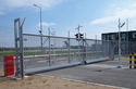 NATO AIR BASE TELESCOPIC CANTILEVER GATE; 12,0×3,0 m opening size; Coated with Thermal Spray Aluminium.